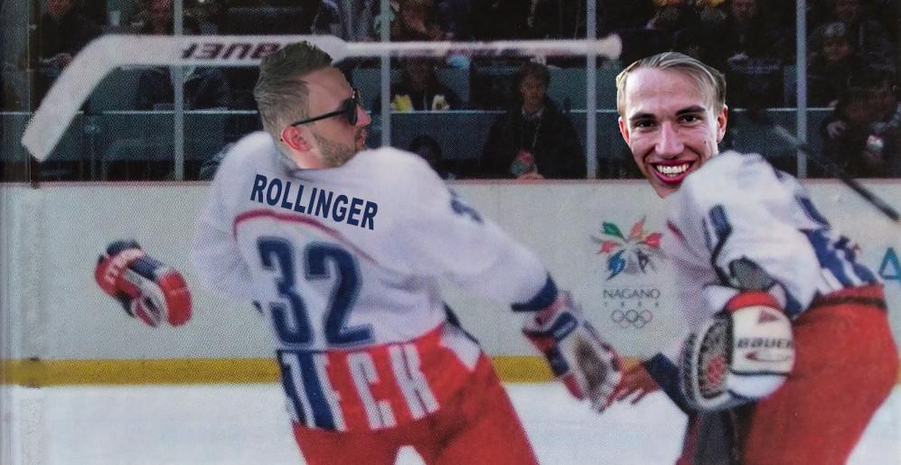 Oslava vstřeleného gólu připomněla vteřiny po vítězství na Ruskem ve finále OH v Naganu, kde Dominik Hašek svou hokejkou vyhozenou do vzduchu zlomil nos Richardu Šmehlíkovi.
